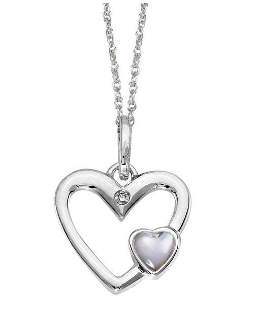 Silver Diamond Pendant / SPD3004
