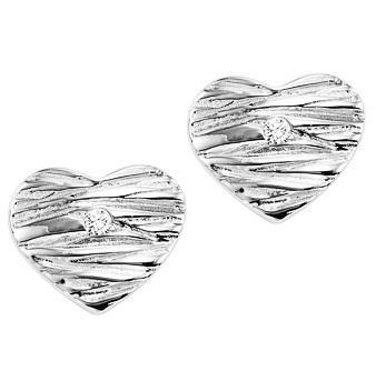 Silver Diamond Earrings / SER3006