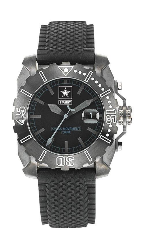 Army Stainless Steel Midnight Watch/AR101