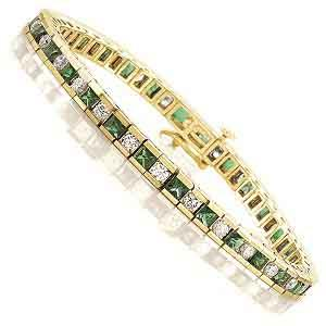 Gold Diamond & Emerald Breacelet:B130EYC