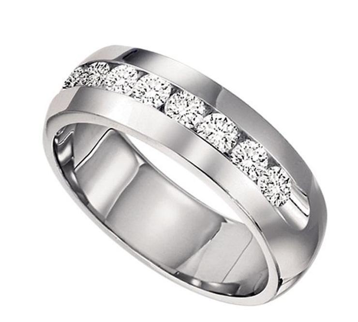 Men's 1/4 ctw Diamond Ring in 14K White Gold/CF30B