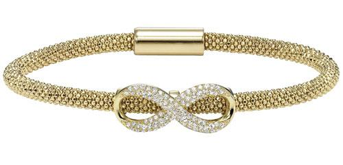 Silver Infinity Bracelet Yellow/FB1078
