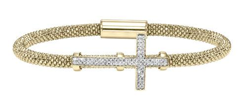 Silver Cross Bracelet Yellow/FB1082