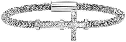 Silver Cross Bracelet White/FB1083