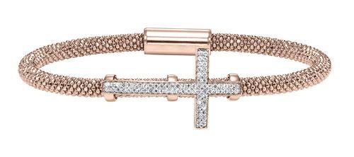 Silver Cross Bracelet Rose/FB1084