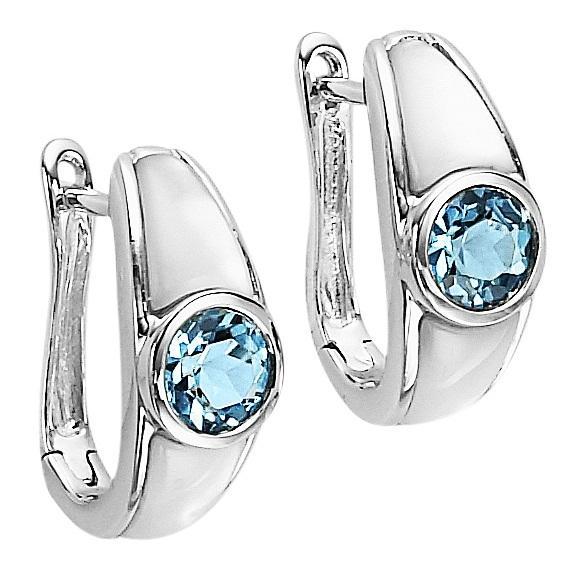 Blue Topaz Earrings in Sterling Silver / FE1112