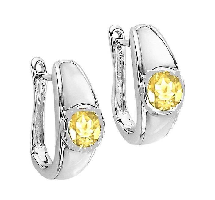Citrine Earrings in Sterling Silver / FE1113