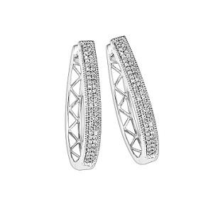 1/2 ctw Diamond Earrings in Sterling Silver / FE1126