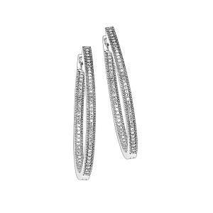 1/4 ctw Diamond Earrings in Sterling Silver / FE1128