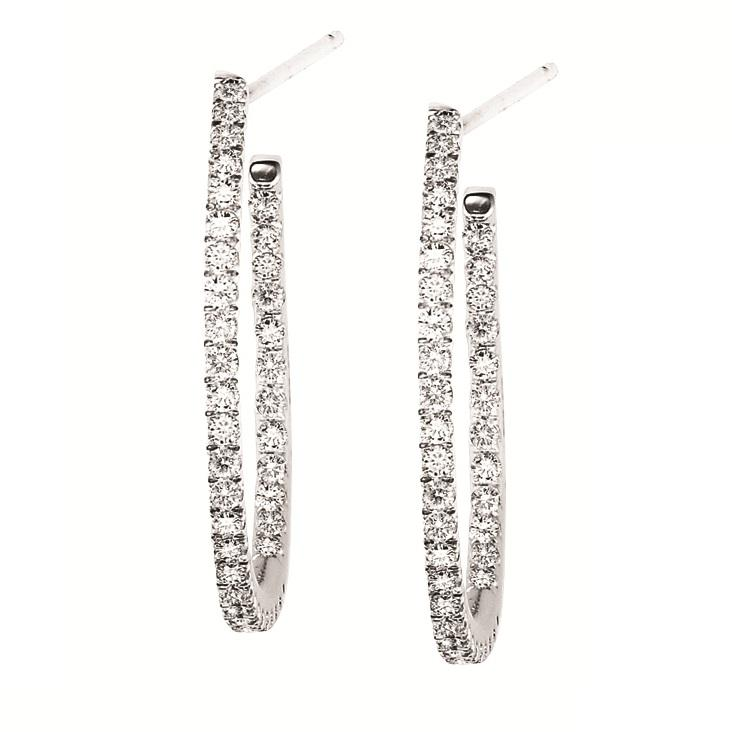 Gold & Diamond Earrings 3/4 ctw : FE1158