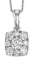 Gold Diamond Pendant 1/2ctw/FP1164AW