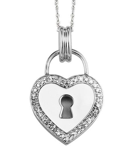 Silver Diamond Pendant / FP1184