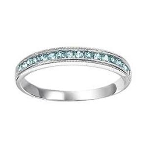 Aquamarine Ring in 10K White Gold /FR1266