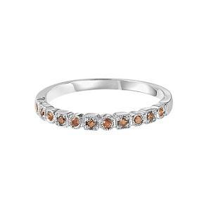 Brown Diamond Ring in 14K White Gold / Fr1312