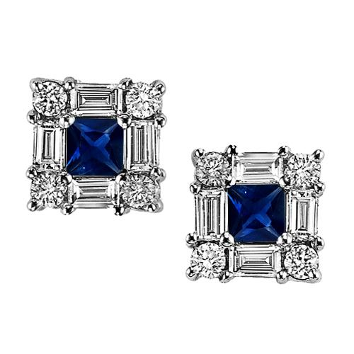 Sapphire & Diamond  Earring set in 14K Gold