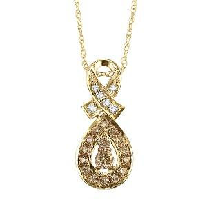 1/4 ctw Brown and White diamond Pendant. / NP647