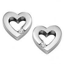 Silver Diamond Earrings /SER2013