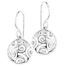 Silver Diamond Earrings / SER2039