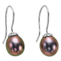 Silver F/W Pearl Earrings/510E01B