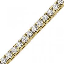 Gold 5 ctw Diamond Bracelet / B131C-5CT