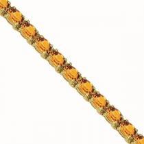 14K Gold & Citrine Bracelet : B193YC6x4