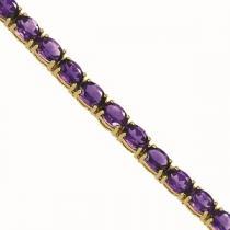 14K Gold & Amethyst Bracelet : B193WM6x4
