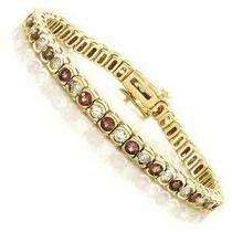 14K Gold Diamond & Ruby Breacelet:B209RYC5