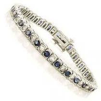 14K Gold Diamond & Sapphire Breacelet:B209SWC5