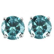 Gold Blue Diamond Studs 1/4 ctw/BLSE6025