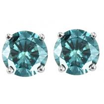 Gold Blue Diamond Studs 1/2 ctw/BLSE6050
