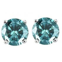 Gold Blue Diamond Studs 1 ctw/BLSE6100