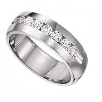 Men's 1 ctw Diamond Ring in 14K White Gold/CF34LW