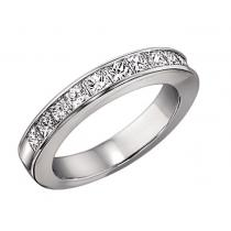 1/2 ctw Princess Cut Diamond Band in 14K White Gold/CP12B