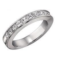 1 ctw Princess Cut Diamond Band in 14K White Gold/CP14B