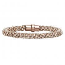 Silver Swarovski Crystal Rose Bracelet / FB1033