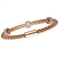 Silver CZ Rose Bracelet / FB1037