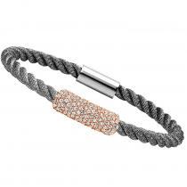 Silver CZ Black with White Bracelet / FB1038