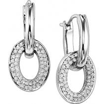 1/4 ctw Diamond Earrings in Sterling Silver / FE1016