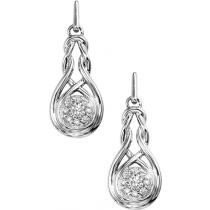 Silver Diamond Earring / FE1053