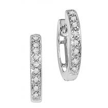 Diamond Earrings in 10K White Gold /FE1105