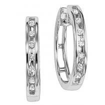 Diamond Earrings in 10K White Gold /FE1106