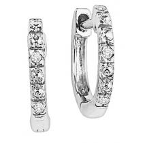 Diamond Earrings in 10K White Gold /FE1108