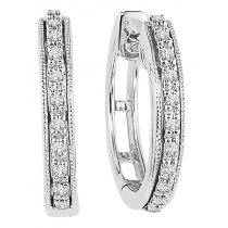 Diamond Earrings in 10K White Gold /FE1110