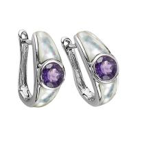 Amethyst Earrings in Sterling Silver / FE1111