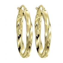 Yellow Gold Color Earrings /FE1177