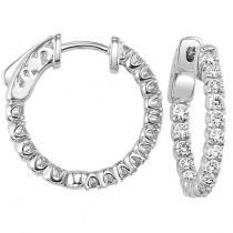 14K Diamond Earrings 1 ctw/FE1184LW