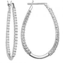14K In-Out Diamond Earrings 1/2 ctw/FE1193