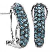 Silver Diamond Earring 1ctw/FE1197