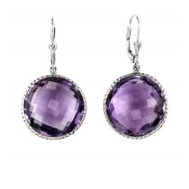 Silver Amethyst Earrings/FE1199