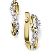 Diamond Earrings in 10K Yellow Gold / FE4033